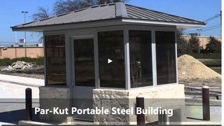 portable steel building video